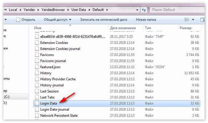 Файл Login Data