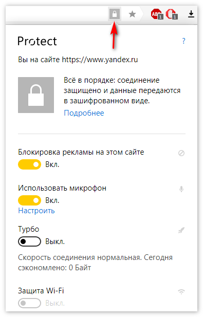 Protect Yandex Browser