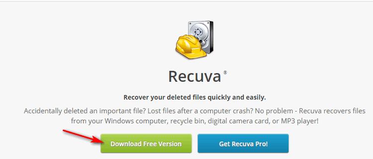 Скачать бесплатно Recuva
