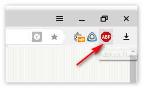 Установлен AdBlock Plus