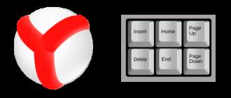 Горячие клавиши Yandex Browser